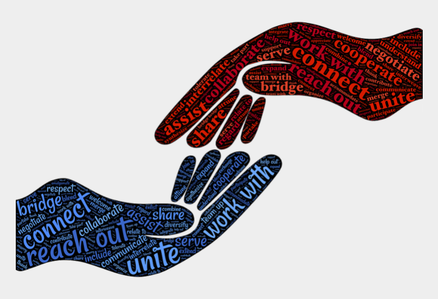 combine clipart, Cartoons - Acct- Advisory Council For The Community By Teens - Hands Reaching For Each Other Png