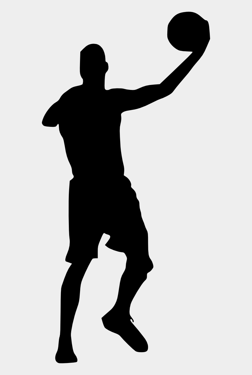 girl basketball player clipart, Cartoons - American Football Player Silhouette Png - Silhouette Of Basketball Player Transparent Background