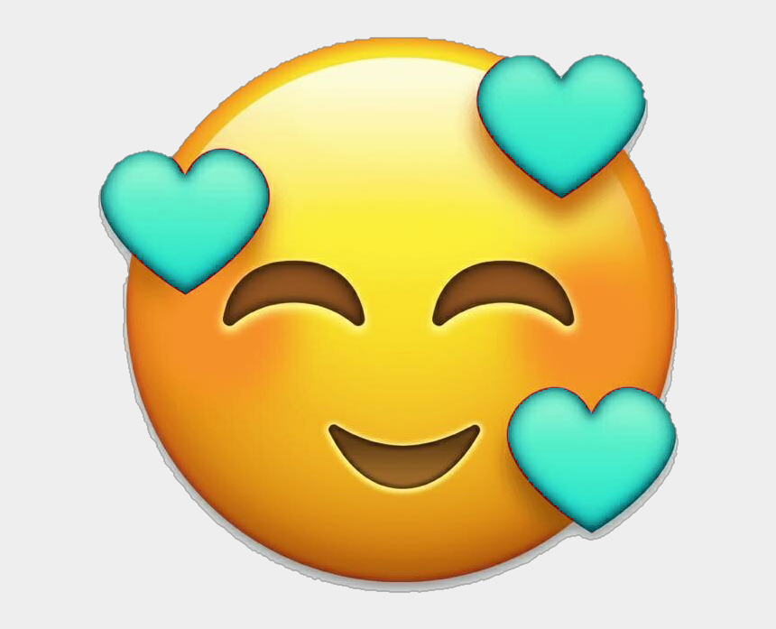 happy emoji clipart, Cartoons - ##iosemoji #ios #emoji #happy #whatsapp #whatsappemoji - Emoji Con Corazones Png