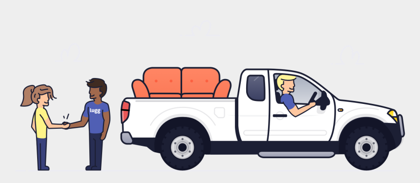 pick up room clipart, Cartoons - Don't Lift A Finger - Furniture Delivery Pickup Truck