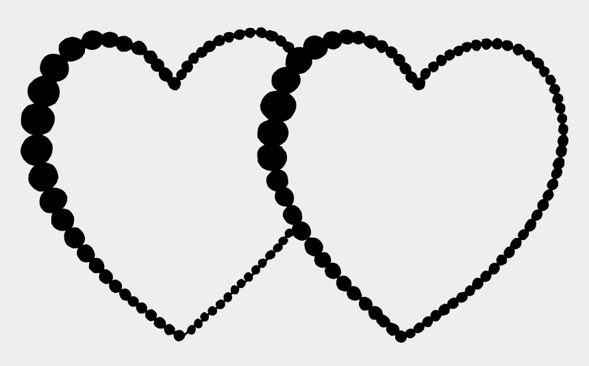 double heart clipart black and white, Cartoons - Heart Png Vector - Red Garnet Bead Necklace