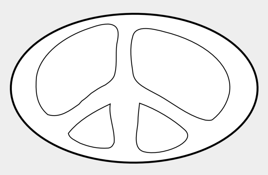 peace sign clipart black and white, Cartoons - Peace Sign Clipart Black And White - Circle