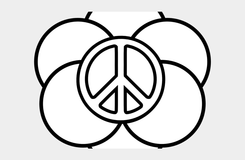 peace sign clipart black and white, Cartoons - Peace Sign Clipart Outline - Soccer Coloring Pages For Girls