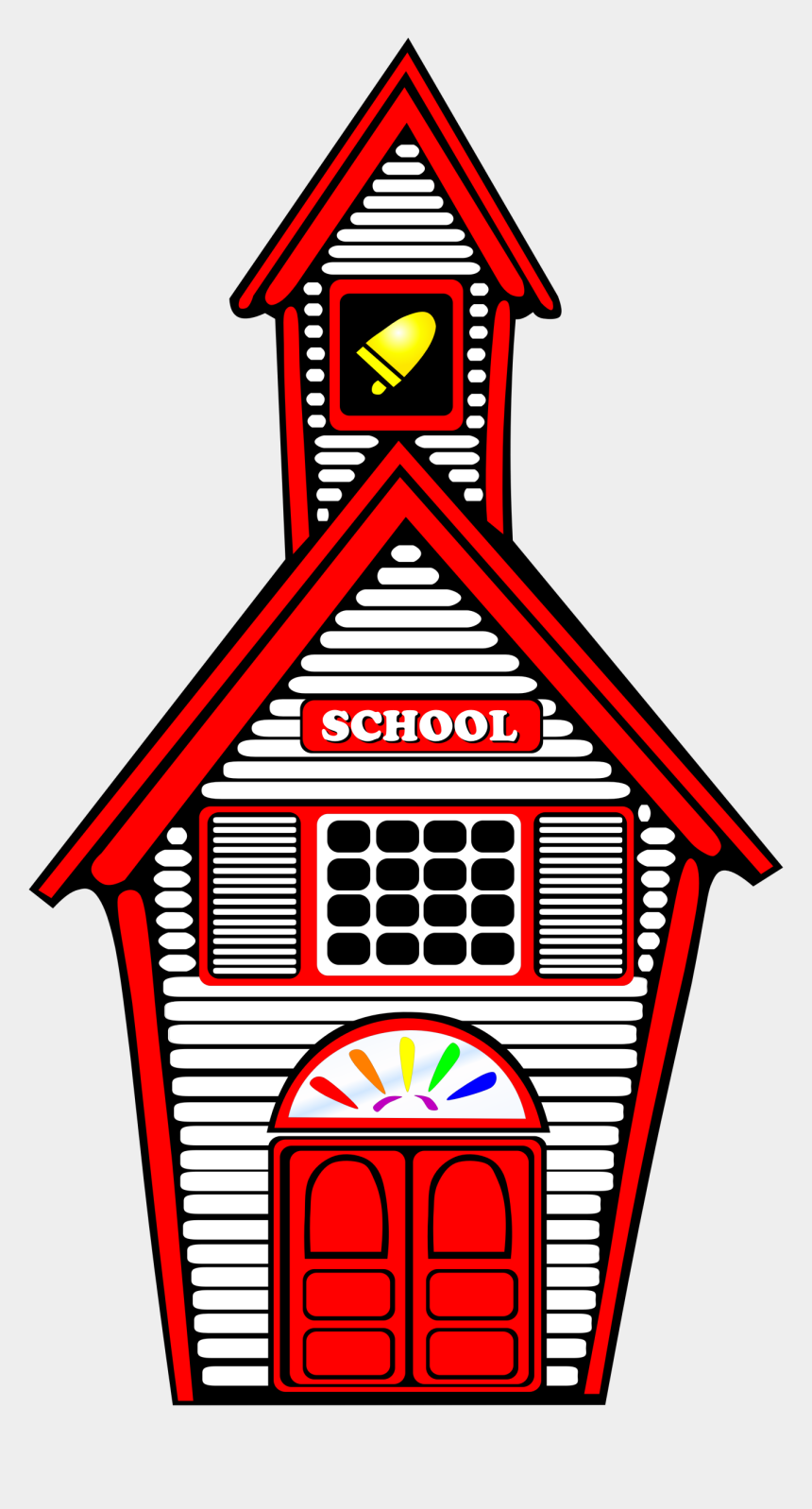 school house clipart black and white, Cartoons - School House Png - Old School Clipart