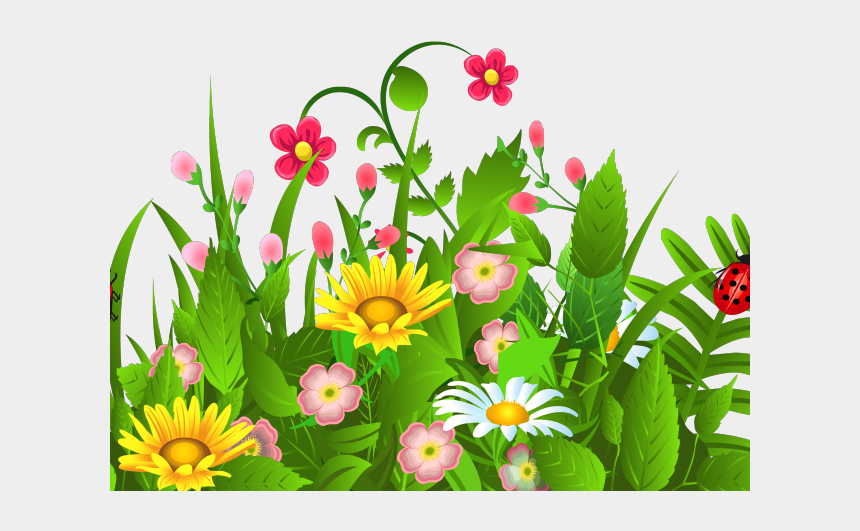 spring fling clipart, Cartoons - Spring Clipart Transparent Background - Grass With Flowers Clipart Png