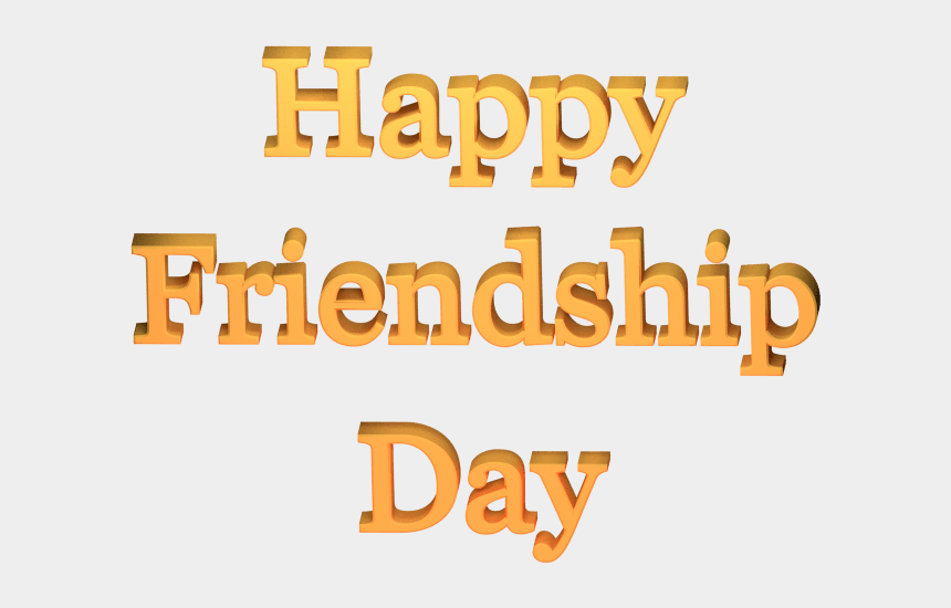 church family and friends day clipart, Cartoons - Happy Friend Day Clipart - Simple Happy Friendship Day
