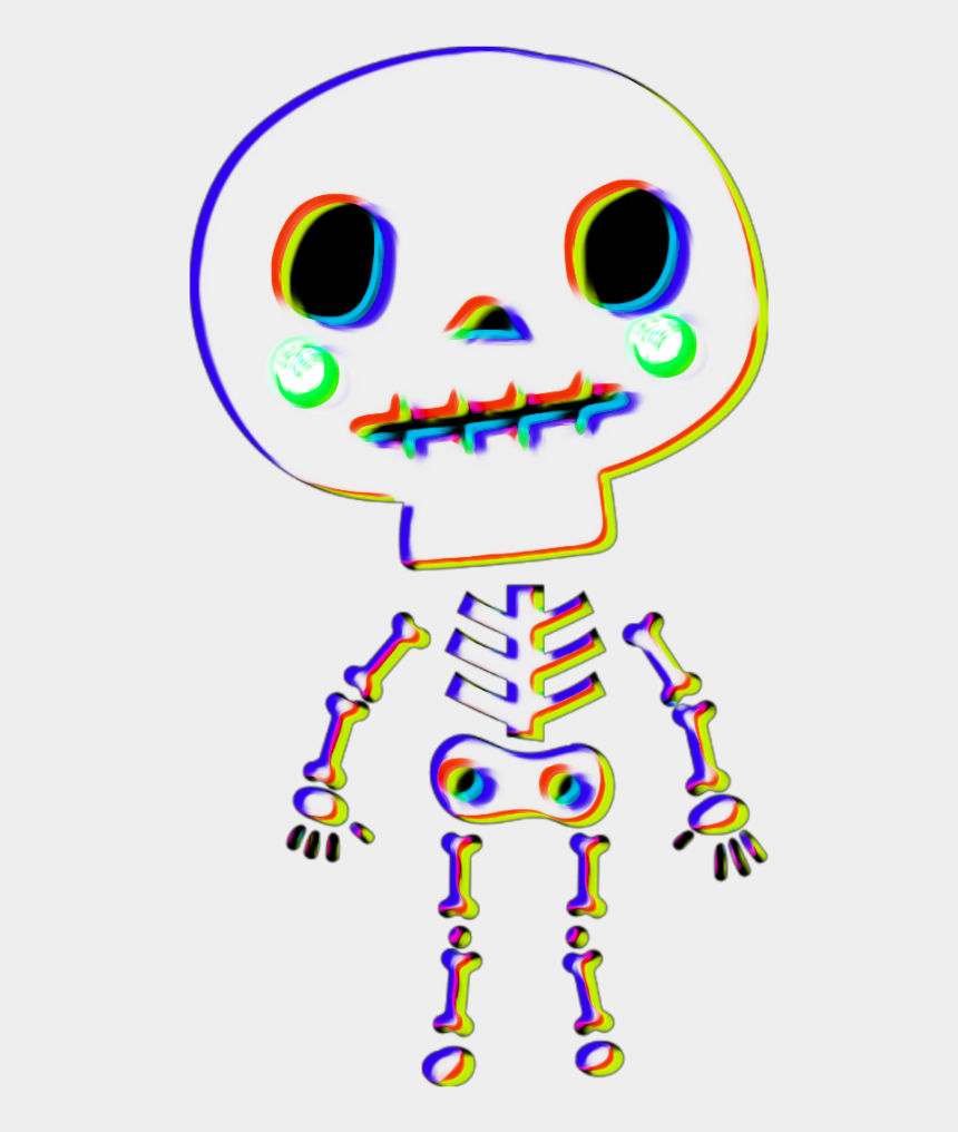 cute halloween skeleton clipart, Cartoons - #halloween #skeleton #glitcheffect #oilpaintingeffect - Cartoon
