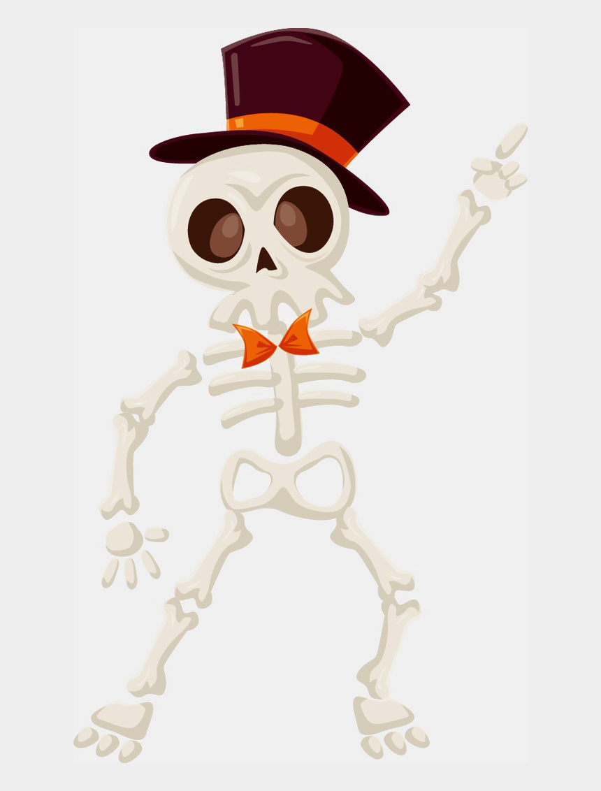 cute halloween skeleton clipart, Cartoons - Halloween Skull Png Image Background - Esqueleto Halloween Png
