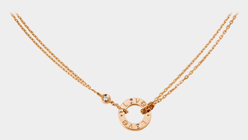 necklaces clipart, Cartoons - Love Necklace, 2 Diamonds - Cartier Love Necklace Silver