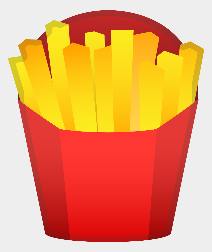 french fries clipart black and white, Cartoons - French Fries Icon - Fries Emoji