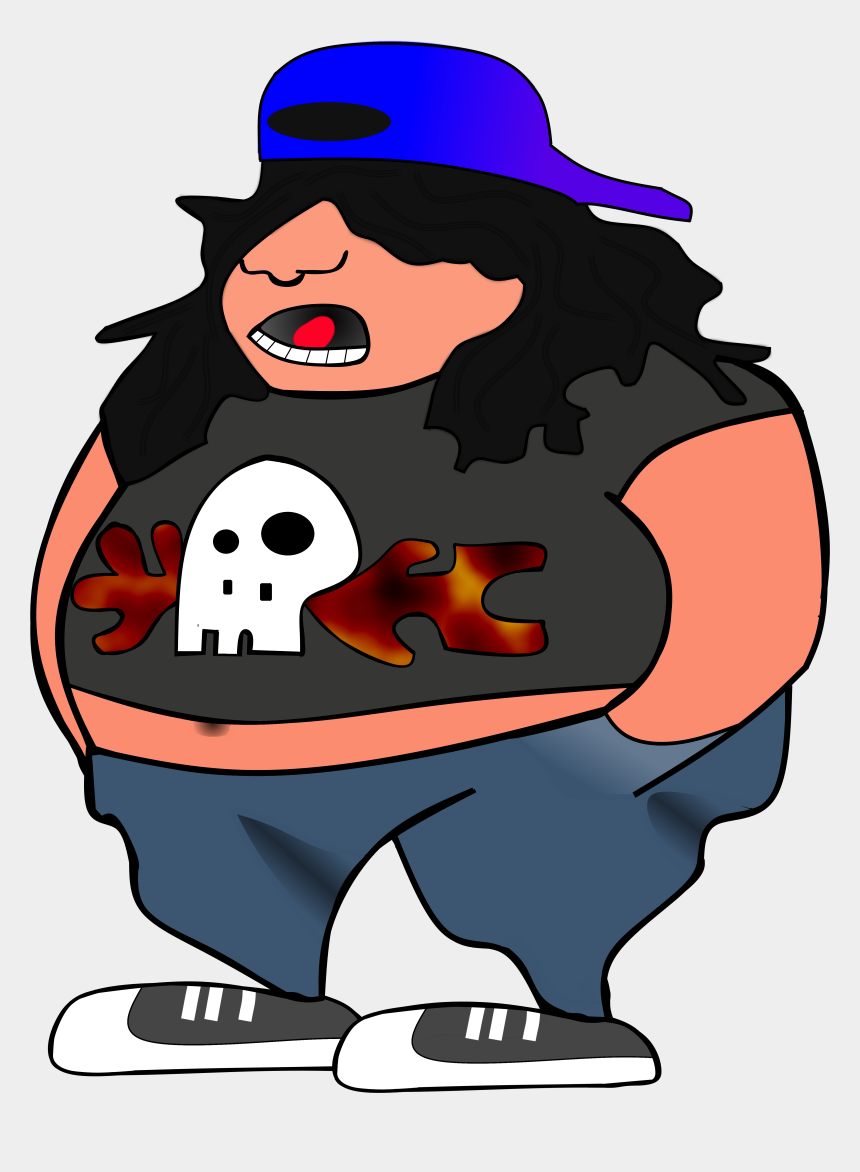 asthma clipart, Cartoons - Obesity And Asthma Is - Gambar Kartun Rock N Roll