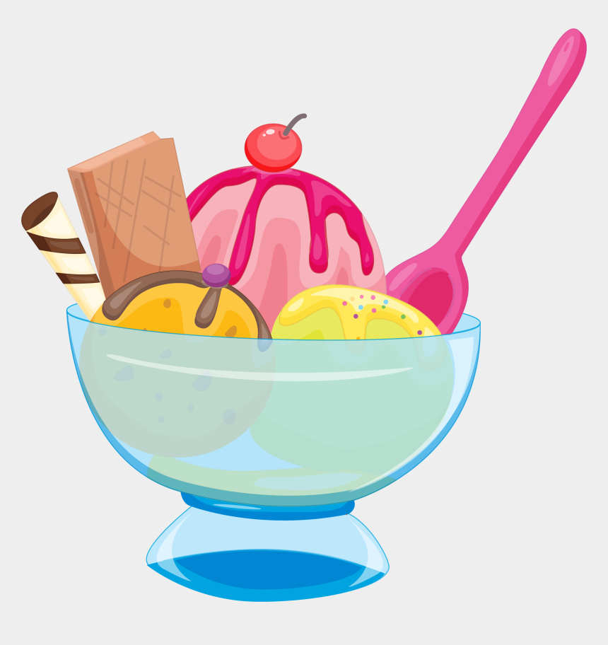 ice cream sundae clipart black and white, Cartoons - Chocolate Ice Cream Sundae Colorful Transprent - Transparent Background Ice Cream Clip Art