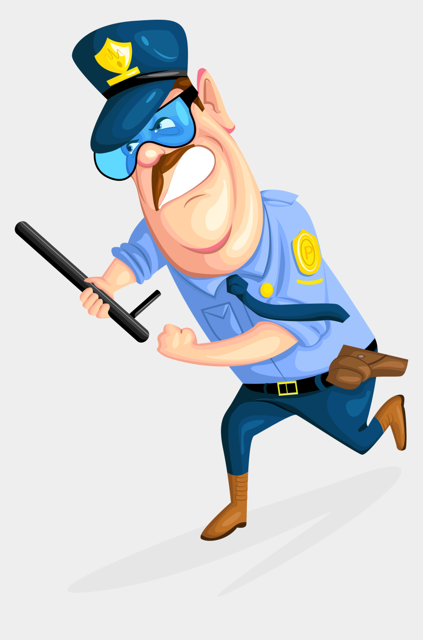 search and seizure clipart, Cartoons - Policeman Clipart Security Guy - Clipart Of Security Guard Transparent Background