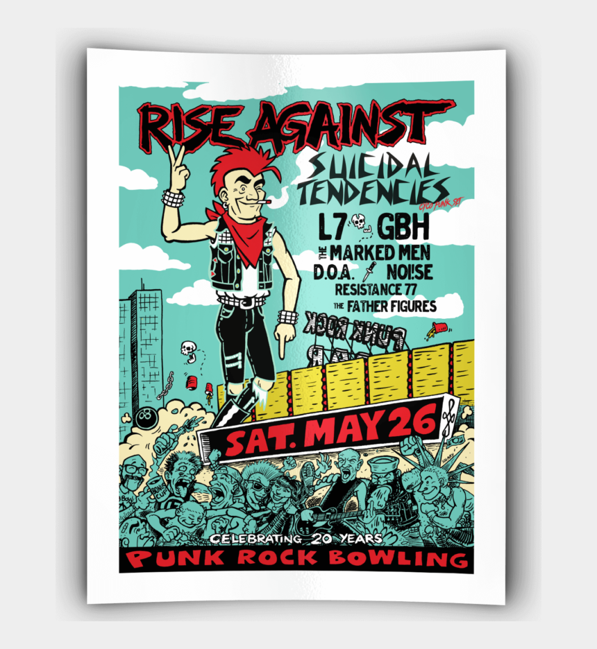 retro bowling pin clipart, Cartoons - Rise Against, Suicidal Tendencies, L7, Gbh - Punk Rock Bowling 2009