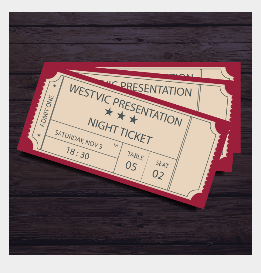 admit one ticket clipart, Cartoons - 2018 Presentation Night Ticket 012018 08 202018 - Wood