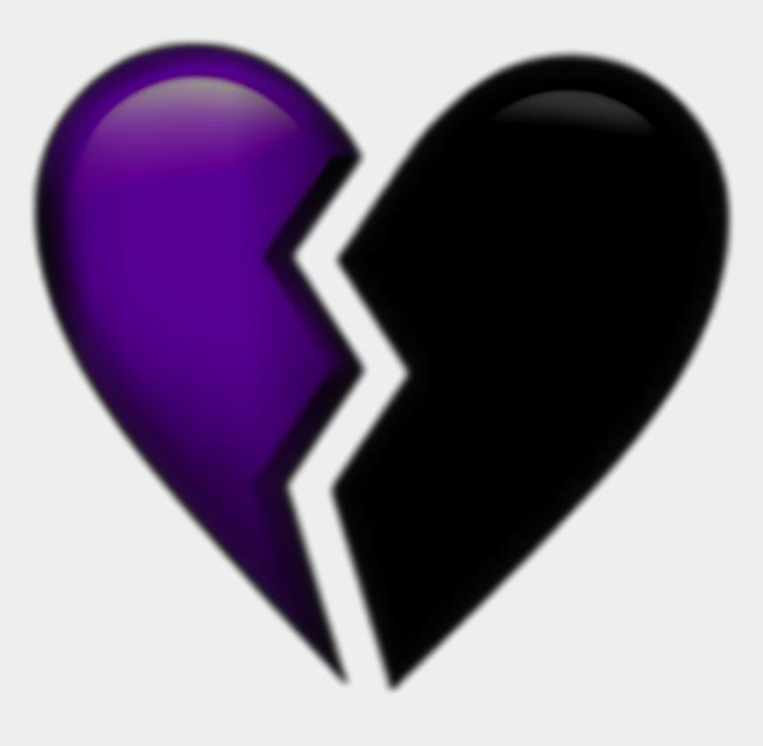 shattered heart clipart, Cartoons - Brokenheart Emoji Purple Aesthetic Tumblr Png Aesthetic - Transparent Broken Heart Emoji