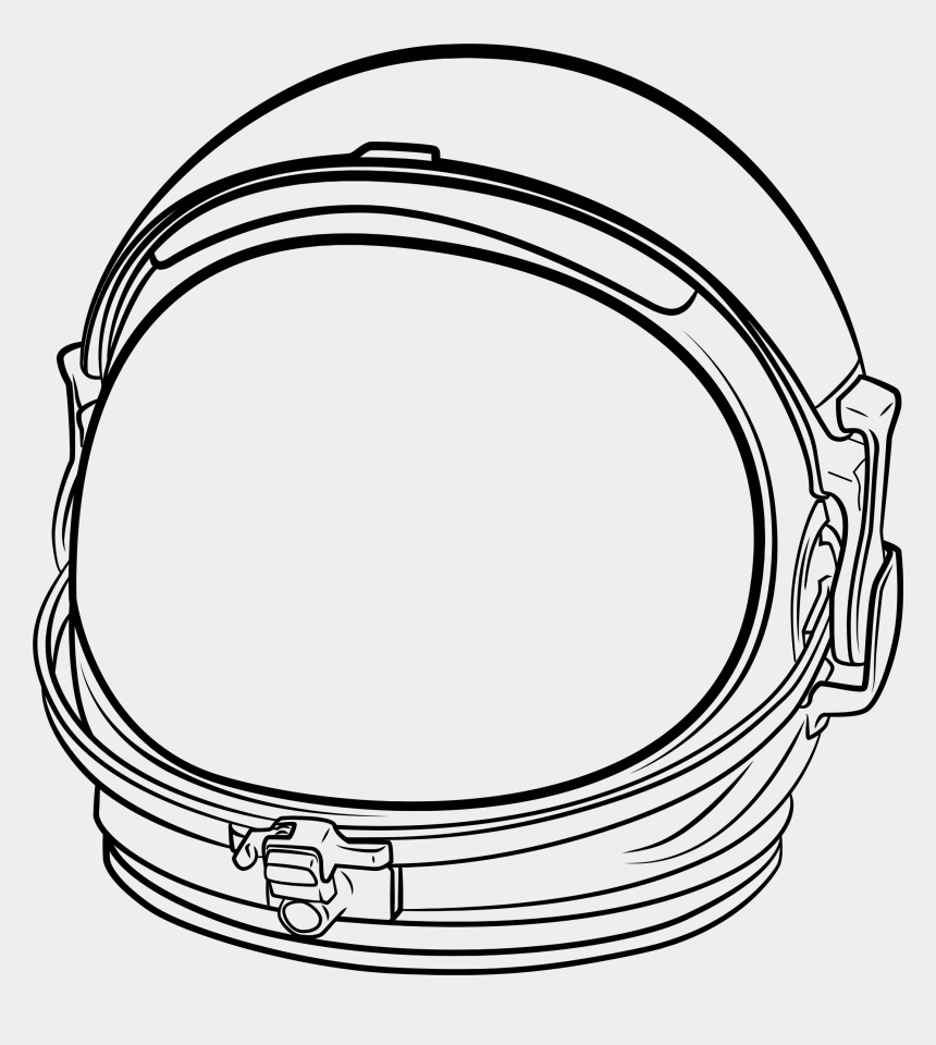 astronaut clip art, Cartoons - Astronaut Helmet Line Art - Space Helmet Transparent Background