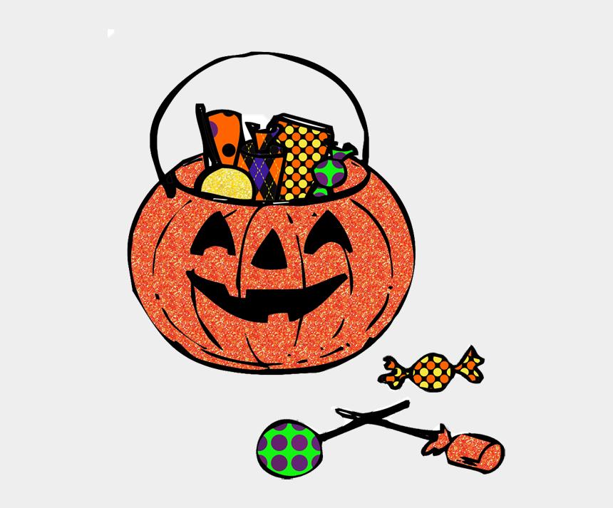 cute halloween clip art, Cartoons - Color Pages, Color Pages 2, Cute Coloring Pages, Cute - Pumpkin With Candy Clipart