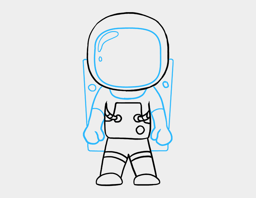 astronaut clip art, Cartoons - Astronaut Clipart Easy Draw - Drawing Of A Astronaut