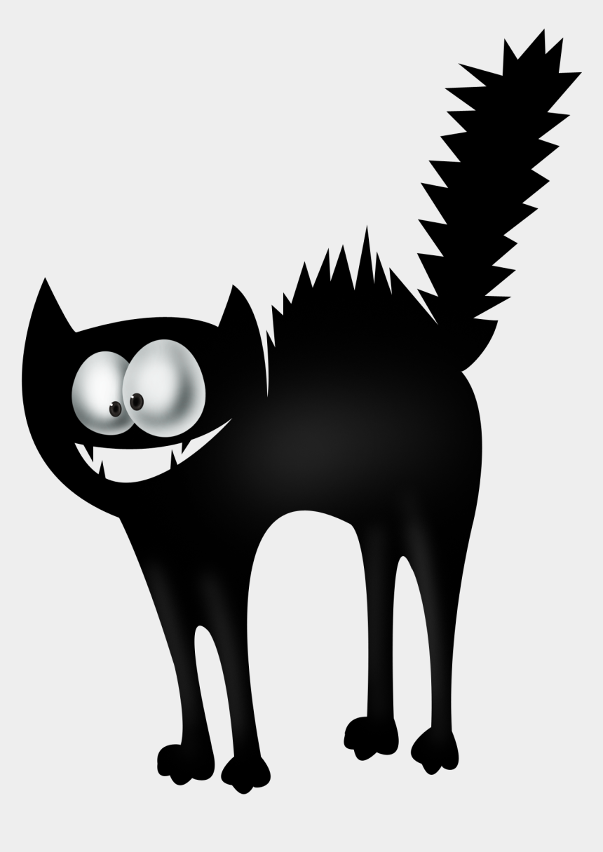 halloween clip art black and white, Cartoons - Drawing Medium Black And White - Cat
