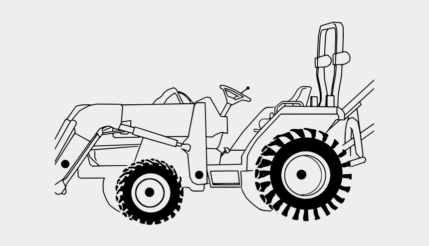 tractor clip art, Cartoons - Drawn Tractor Farm Equipment - Tractor Coloring Page