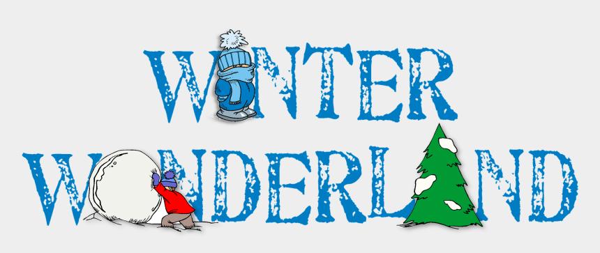 winter wonderland clip art, Cartoons - Winter Wonderland Word Snow Cold Season Frost - Winter Wonderland Png
