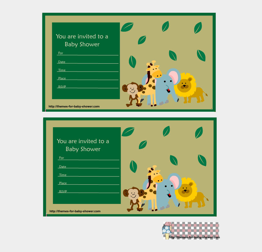 Baby Shower Invitations Imprimir Safari Tarjetas De
