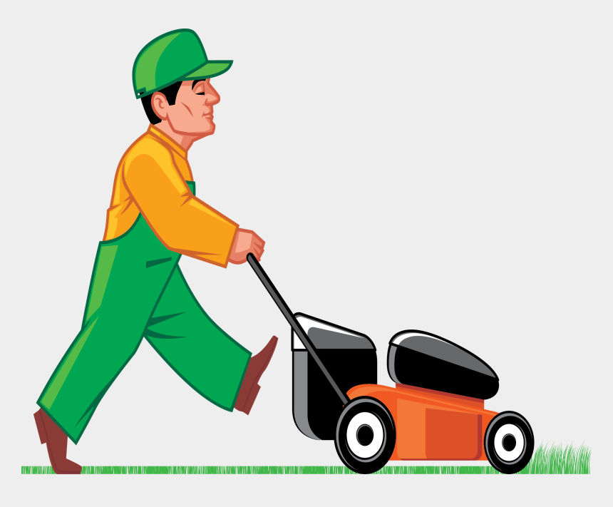 lawn mower clip art, Cartoons - Man Mowing Lawn Clipart - Clip Art Cutting Grass