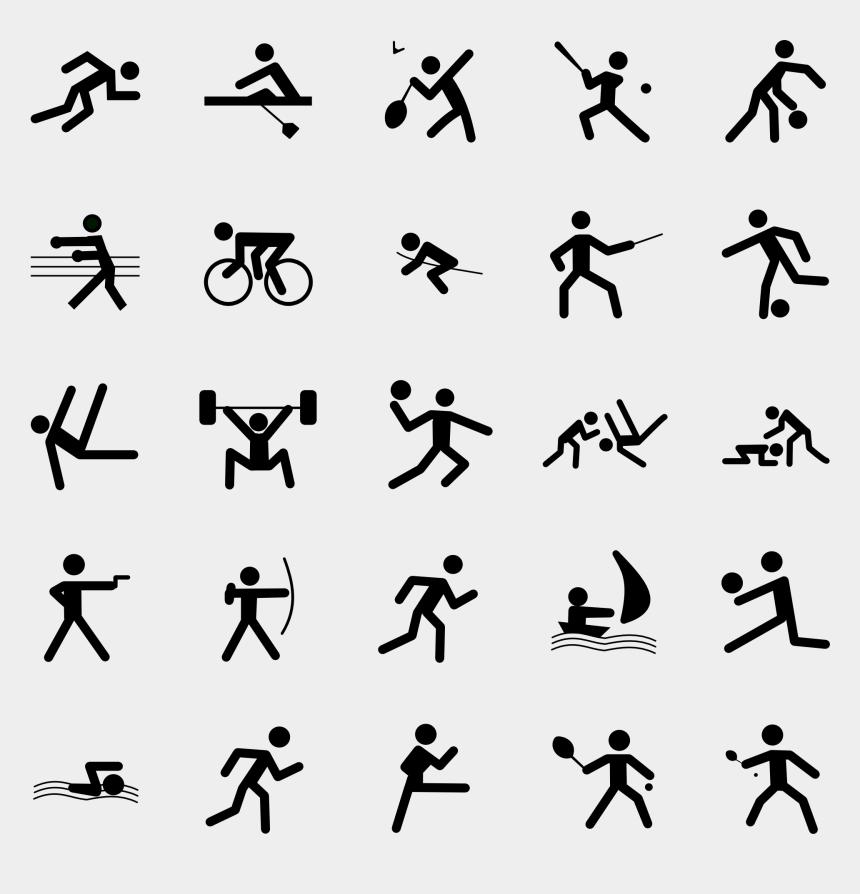 stick people clipart, Cartoons - Clipart Symbols Image - Olympics Sports Symbols