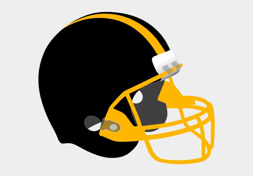 football helmet clip art, Cartoons - Black And Yellow Football Helmet