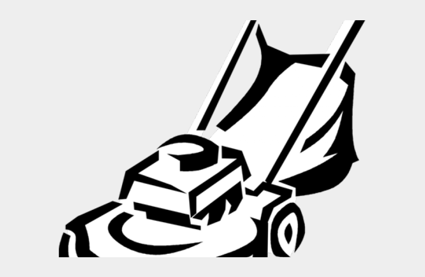 lawn mower clip art, Cartoons - Monochrome Clipart Lawn Mower