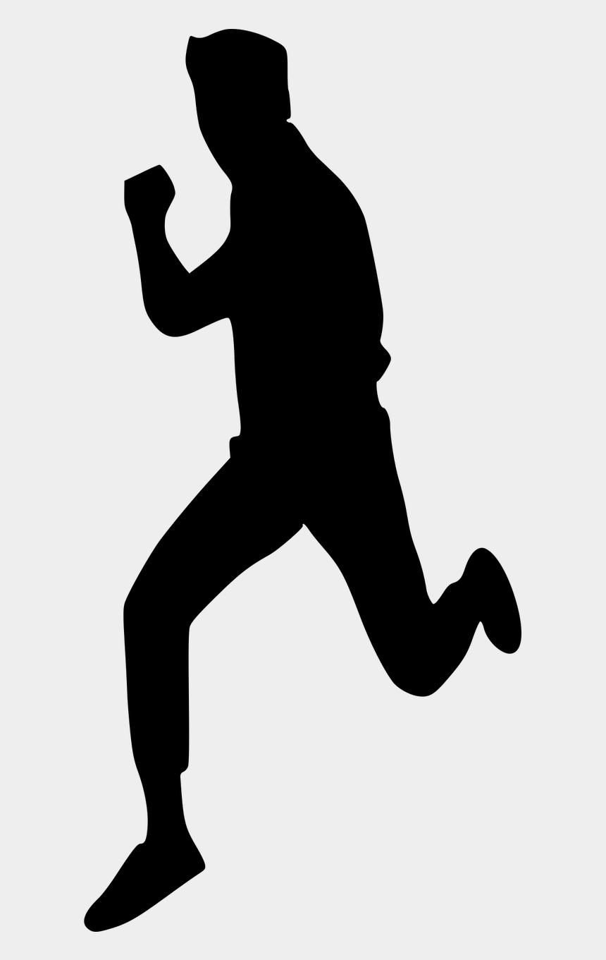 running clip art, Cartoons - People Exercising Clip Art - Clip Art Silhouette Man Running