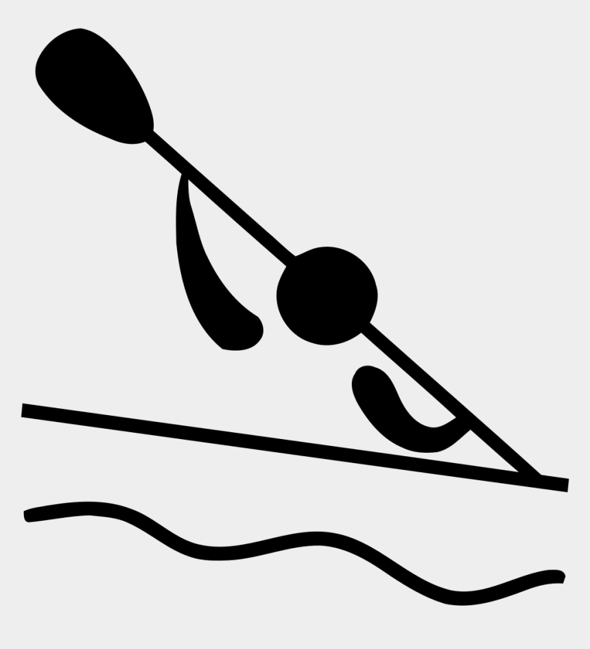 stick people clipart, Cartoons - Olympic Sports Canoeing - Olympic Canoeing Symbol