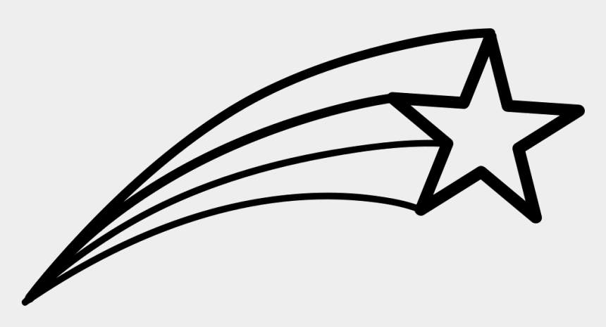 stars clipart black and white, Cartoons - Shooting Star Png - Easy Shooting Star Drawing