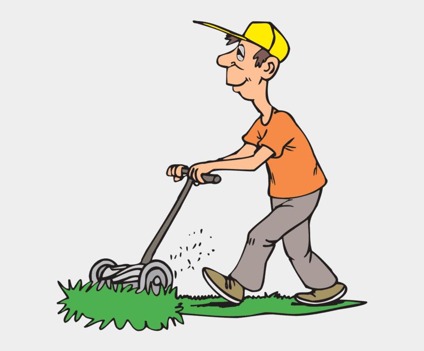 lawn mower clip art, Cartoons - Landscape Impressions - Mowing The Lawn