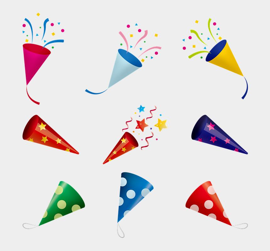 confetti clip art, Cartoons - Balloons Confetti Celebration Birthday Fun - パーティー クラッカー イラスト 素材