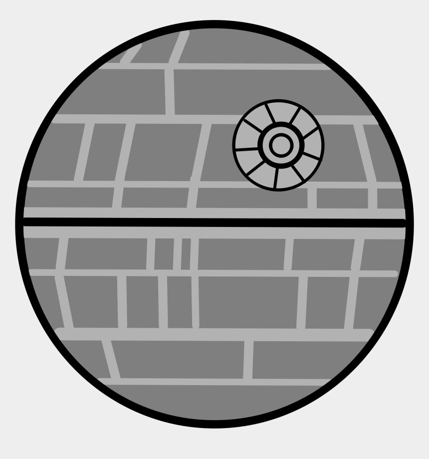 stars clipart black and white, Cartoons - Clipart - Star Wars Death Star Cartoon