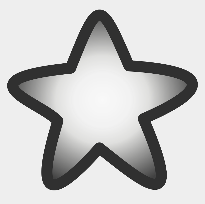 stars clipart black and white, Cartoons - Silver Star Clipart - Star Gif Png