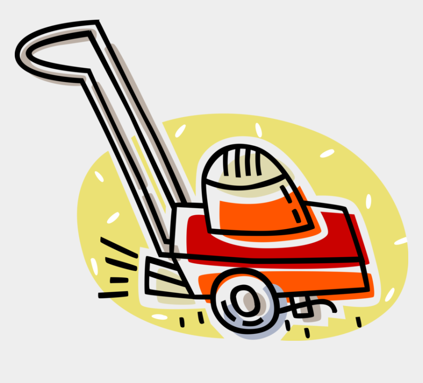 lawn mower clip art, Cartoons - Vector Illustration Of Yard Work Electric Lawn Mower - Lawn Mower