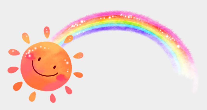 rainbow clip art, Cartoons - Freetoedit Sun Sunshine Rainbow - Sunshine And Rainbow Clip Art