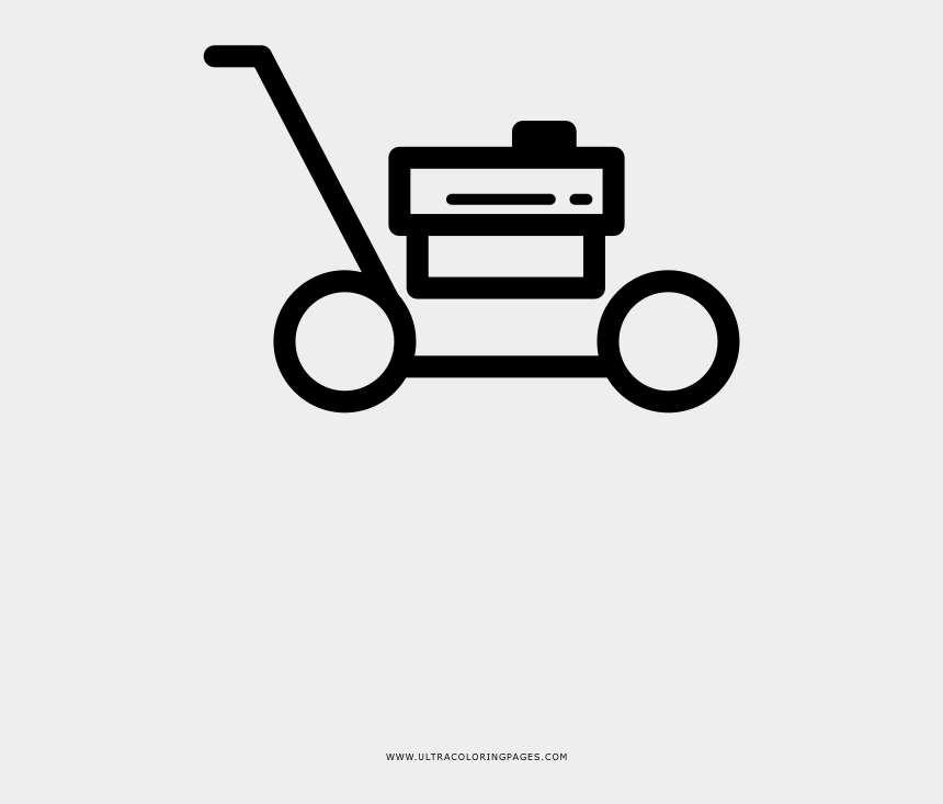 lawn mower clip art, Cartoons - Lawn Mower Coloring Page - Lawn Mower
