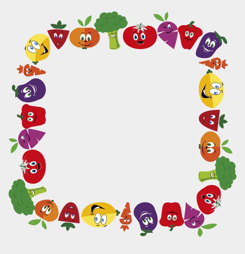 frame clip art, Cartoons - Frame Clip Large - Border Fruits And Vegetables