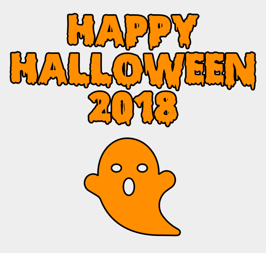 happy halloween clip art, Cartoons - Download Happy Halloween 2018 Scary Ghost Bloody Font - 2018