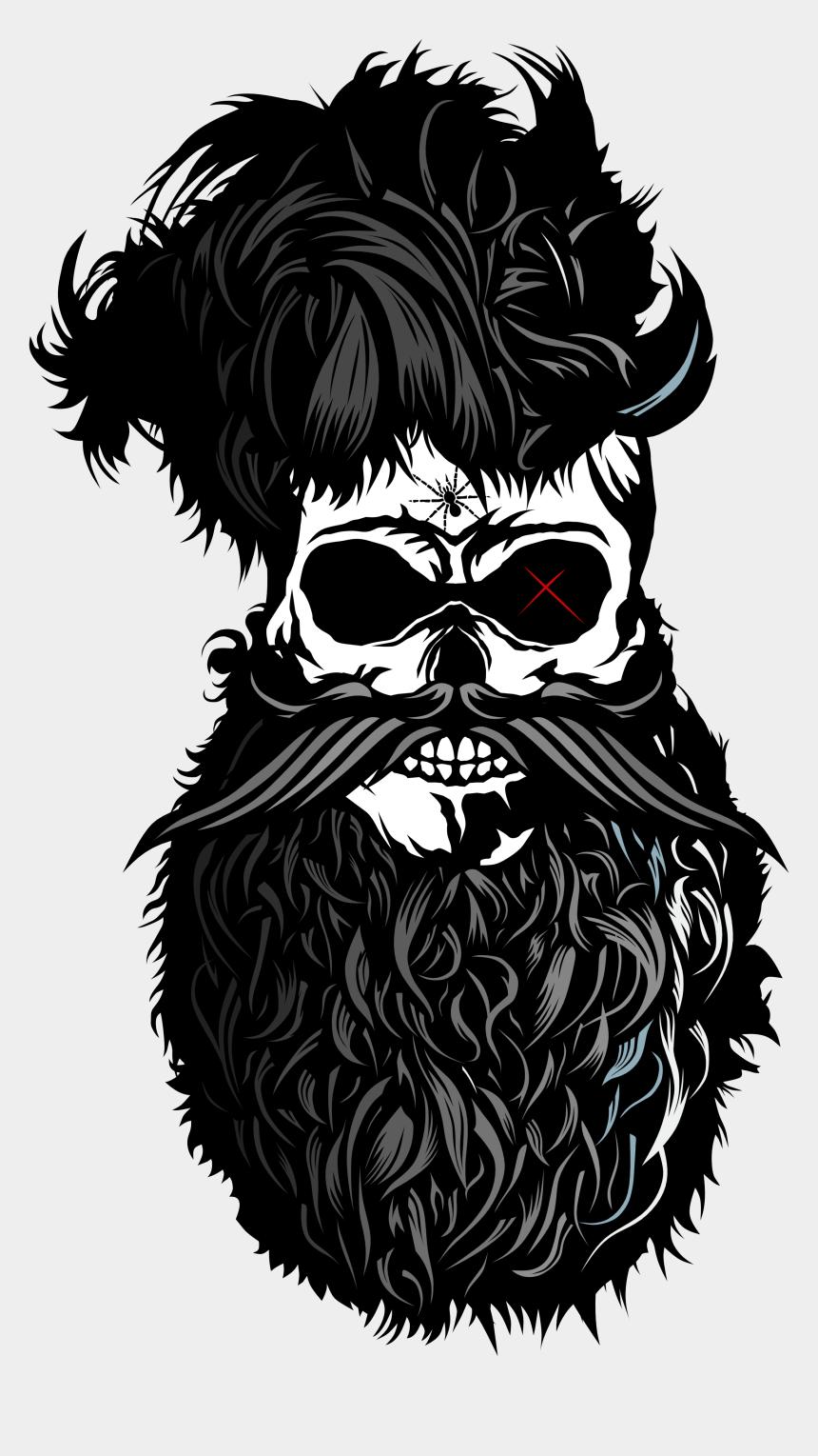 beard clip art, Cartoons - Drawing Beard Sketch - Tete De Mort Barbu