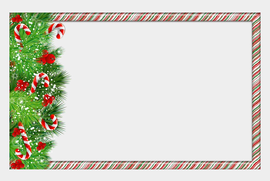 frame clip art, Cartoons - Christmas Png Photo Frame With Candy Canes - Christmas Frame Clipart Png