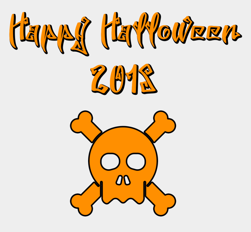 happy halloween clip art, Cartoons - Download Happy Halloween 2018 Scary Font Skull Transparent - Pumpkin Happy Halloween 2018