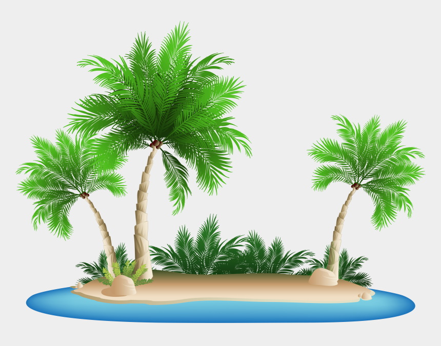 palm trees clipart, Cartoons - Palm Tree Png Clipart - Palm Tree Island Png