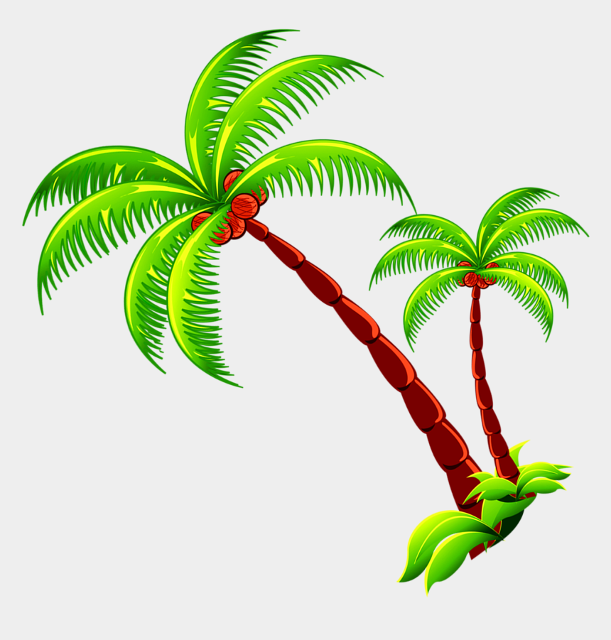 palm trees clipart, Cartoons - Coconut Tree Branch Free Photo Png Clipart - Coconut Tree Clipart Png