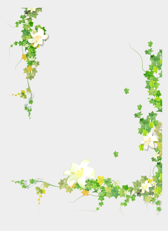 plant clip art, Cartoons - Summer Plant Flower Leaf Painted Vine Hand - Transparent Background Flower Vine Clipart