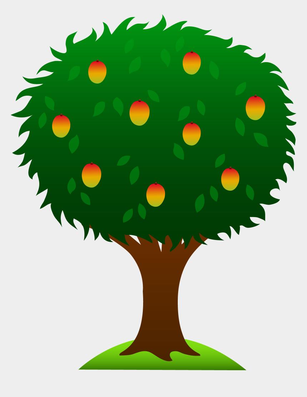 family tree clip art, Cartoons - Mango Tree With Ripe Fruits - Mango Tree Clip Art